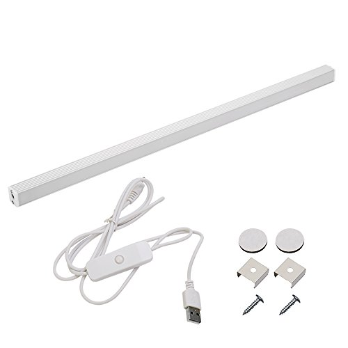 Under Cabinet LED Light Bar USB Powered, Portable LED Under Counter Light for Bookshelf, Computer Desk, Kitchen, Closet, Outdoor Camping, 6W, Cool White 6000K (1 Pack) by Haian Support (Image #7)