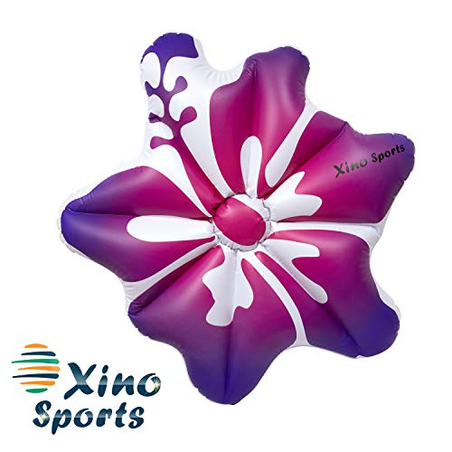 - XinoSports Deluxe Hibiscus Pool Floatie, Will Make Every Lady Look Like a Princess, Watch It Become Pool Party Favorite, Comes in Pink and Blue Color