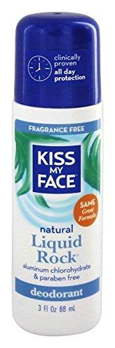 Kiss My Face, Natural Liquid Rock Deodorant, No Fragrance, 3 fl oz (88 Milliliter). Pack of 1