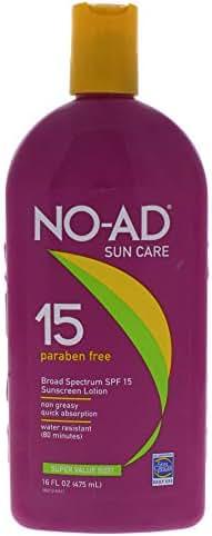 NO-AD Sunscreen Lotion, SPF 15 16 oz