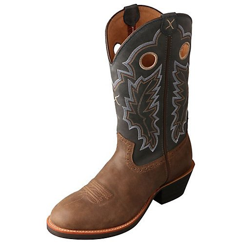 Twisted X Men's Ruff Stock Cowboy Boot Round Toe Tan 11.5 D(M) US - Tan Cowboy Round Boots