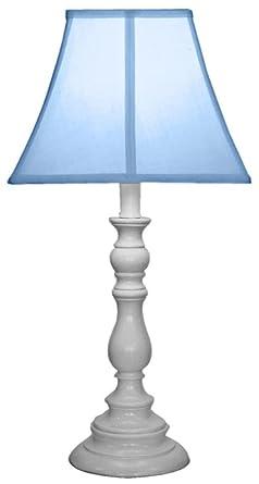 Amazon Com Creative Motion White Base Resin Table Lamp Light Blue