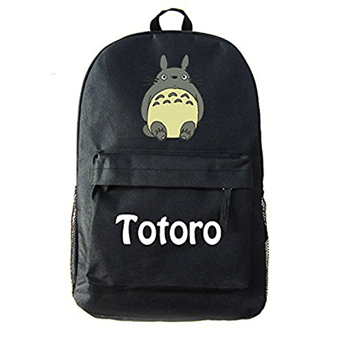 Anime Totoro Backpack Shoulder School Rucksack Bookbag My Neighbor 2 Black Canvas Cosplay Bag n6nSUr