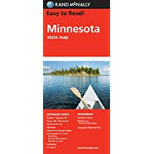 Easy To Read: Minnesota State Map (Rand McNally Easy to Read!)