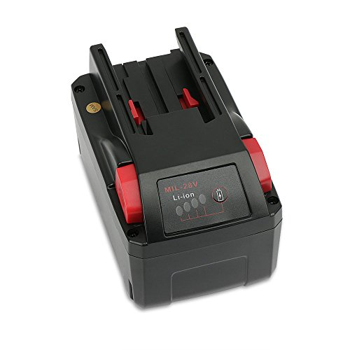 POWERAXIS M28 28v 3000mAh Lithium-ion Battery Replacement for AEG Milwaukee C 12-28 DCR, 48-11-2830, M28, M28B, M28BX, MC28 V, M28 B Replace 4932352732, 4933416345 Cordless Power Tool
