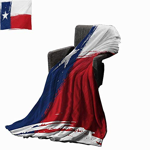 - Anyangeight Texas Star Custom Design Cozy Flannel Blanket Grunge Flag with Watercolor Brush Strokes Independent Country,Super Soft and Comfortable,Suitable for Sofas,Chairs,beds