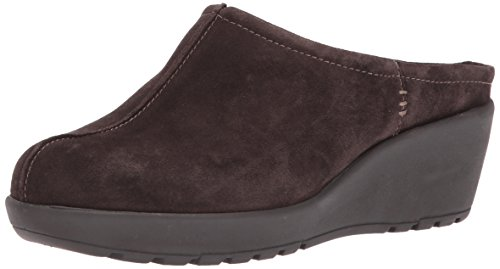 Easy Spirit Suede Clogs (Easy Spirit Women's Jaiva Mule, Dark Brown Suede, 7.5 M US)