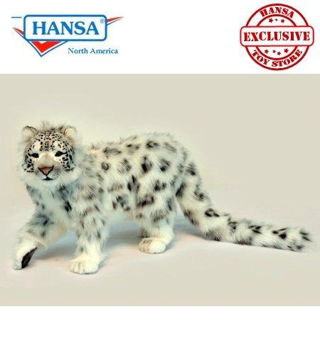 Hansa Standing Snow Leopard Plush, 78 cm L by Hansa (Image #1)