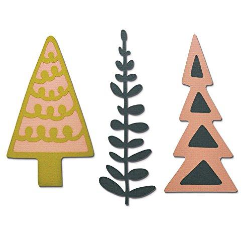 SizzixAlberi decorativi di artigianato asilo Thinlits Die Set, Confezione da 3 Ellison Europe 660878