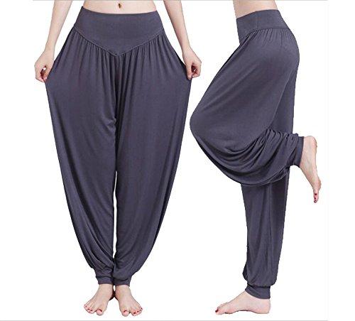 Helisopus Women's Modal Cotton Soft Yoga Sports Dance Pilates Harem Pants