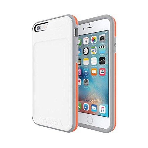 iPhone 6S Case, Incipio [Performance] Series Level 3 [Shock Absorbing] Cover fits iPhone 6, iPhone 6S - White/Orange by Incipio