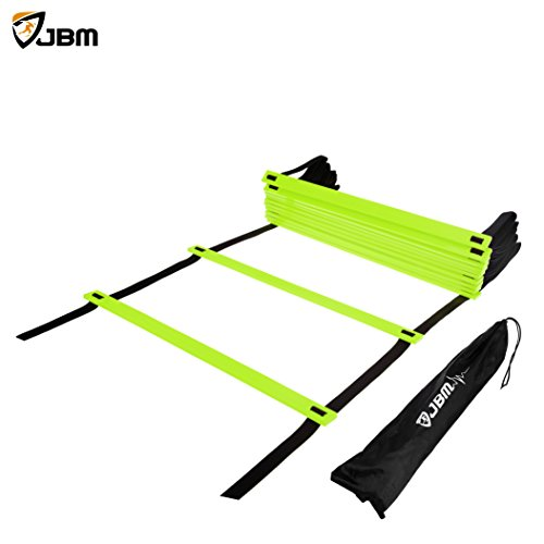 JBM Agility Ladder (Green, 20-rung with 33' (10m) strap)