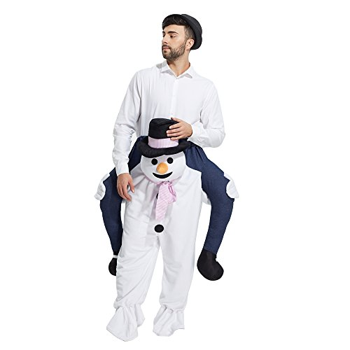 YEAHBEER Piggyback Ride On Riding Shoulder Adult Costume Carry Me Unisex Fancy Dress (Snowman)