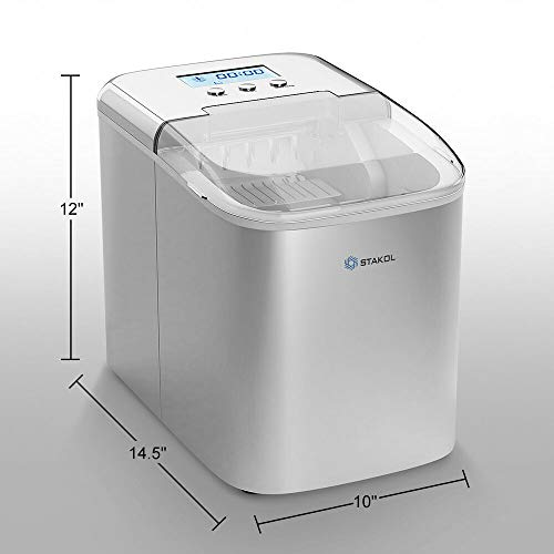 Stainless Steel Ice Maker Countertop 26LBS/24H LCD Display W/Scoop Portable by Generic (Image #1)
