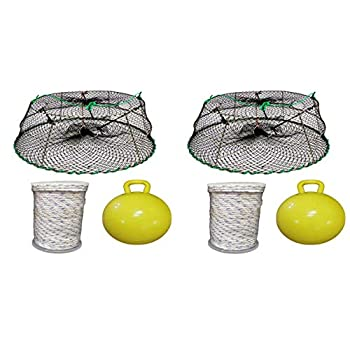 Image of Blinds & Accessories KUFA Sports 2-Pack Tower Style Stainless Steel Prawn Trap(30'x20'x12') with Prawn Trap Accessory Combo-(CT76+FYM405) x2