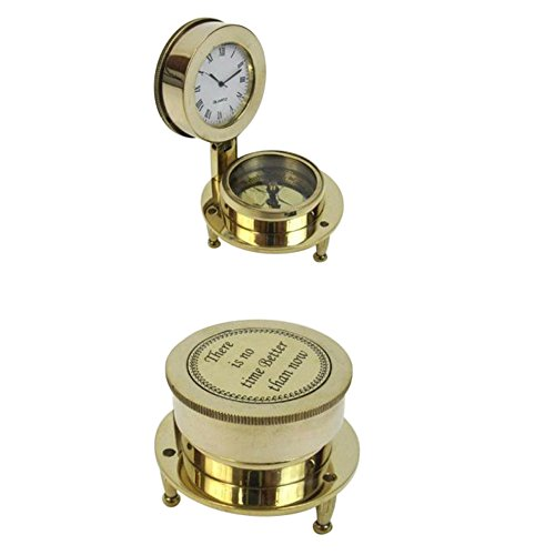 Armor Venue Solid Brass Folding Compass Clock Outdoor Camping Gear by Armor Venue
