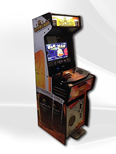 Video Arcade Cabinet with Kegerator Includes Pac-man