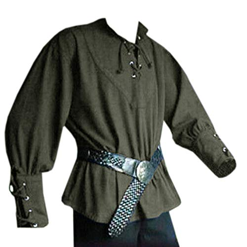 Medieval Clothing For Men - Beotyshow Mens Costume Medieval Lace Up