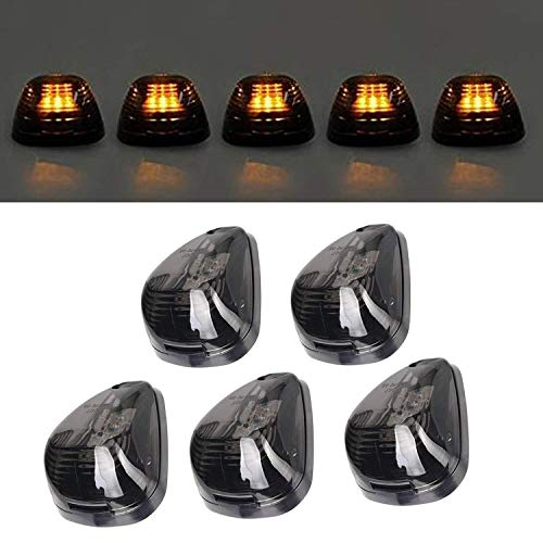 ns Amber LED Cab Roof Top Marker Lamp Clearance Running Light For 1999-2016 Ford E/F (Smoked Lens & Amber LED) ()