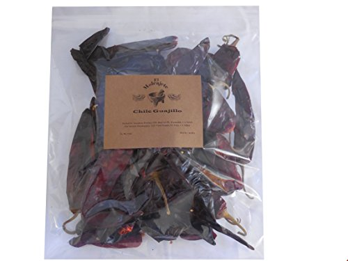 Guajillo Mexican Whole Dried Chile- 8oz Resealable Bag - El Molcajete Brand (Guajillo Chili)