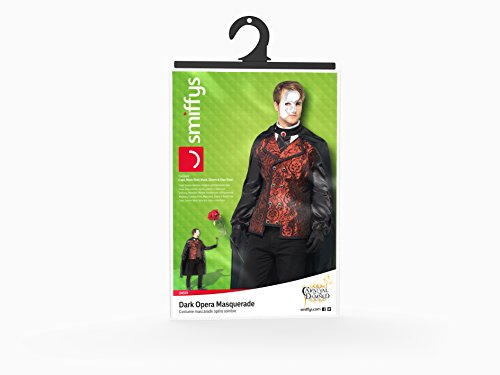 Smiffy's Men's Dark Opera Masquerade Costume, Cape, Mock Shirt, Mask, Gloves and Faux Rose, Carnival of the Damned, Halloween, Size M, 24574 by Smiffy's (Image #5)