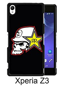 Sony Xperia Z3 Case ,Fashion And Unique Designed Sony Xperia Z3 Case With metal mulisha rockstar Black Hight Quality Cover