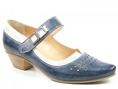 new styles f740c 437e3 Fidji Schuhe Damen Spangen Pumps Ballerinas blau blue ice G801-3129/3408
