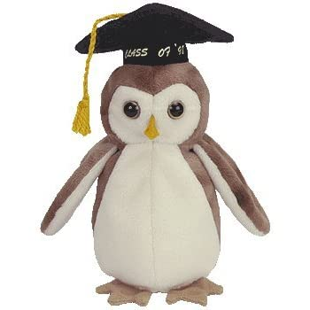 Amazon Com Ty Beanie Babies Smartest The Owl Toys Amp Games