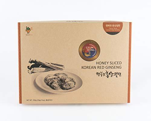 (Korean (Panax) Red Ginseng Honey Sliced 200g - Premium Quality Ginseng. (GeumHong))