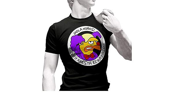 Soy Kresta el Payaso - Camiseta de Manga Corta: Amazon.es: Ropa