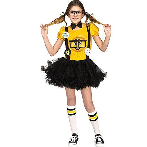 (Fun World Big Girl's Nerd Child Costume Childrens Costume, Multi,)