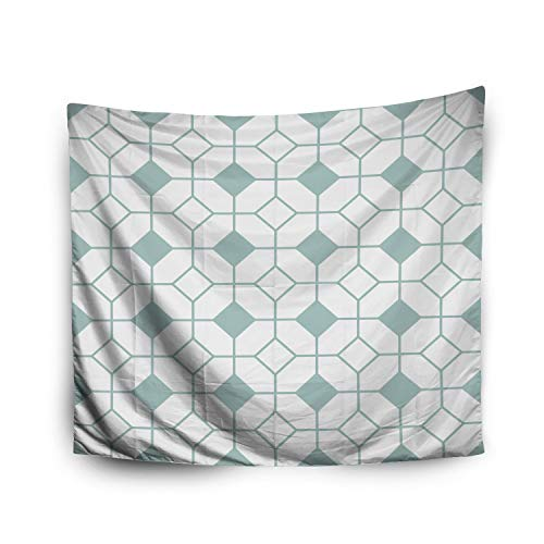 Pamime Home Decor Tapestry Christmas Simple Floor Tile Pattern Abstract Geometric Background Wall Tapestry Hanging Tapestries Dorm Room Bedroom Living Room (60x80 Inches(150x200cm) ()