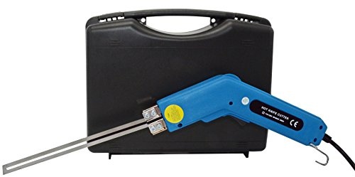 Foam Cutting Tool 250 Watt Hot Knife Sleeving and Rope Cutter with 10-Inch Blade and Carrying Case