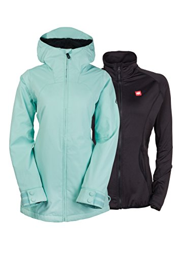 686 Authentic Smarty Haven Jacket, Dusty Aqua, X-Small (Ski Jacket Women 686)