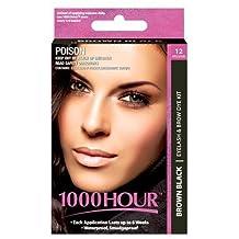 1000 Hour Eyelash & Brow Dye / Tint Kit Permanent Mascara (Brown Black)
