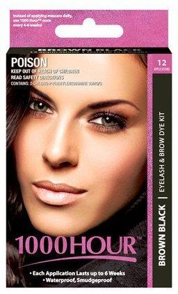 Amazon.com : 1000 Hour Eyelash & Brow Dye / Tint Kit Permanent ...