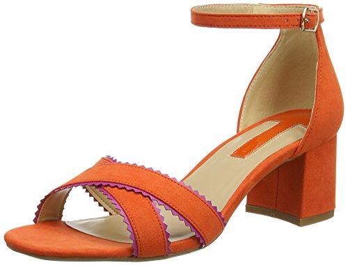Dorothy Perkins Damen Sonnet Scallop Sandalen mit Absatz Orange (Orange)