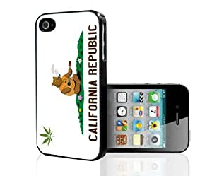 California State Flag Weed Cannabis Hard Snap on Cell Phone Case Cover iPhone (i5 5s)