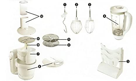 Amazon.de: SilverCrest vielseitige Küchenmaschine 550 Watt weiß