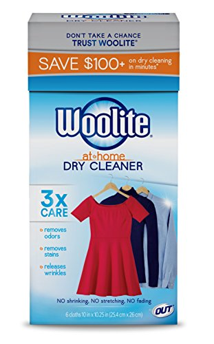6 Scents (Woolite At Home Dry Cleaner, Fresh Scent, 6 Cloths)