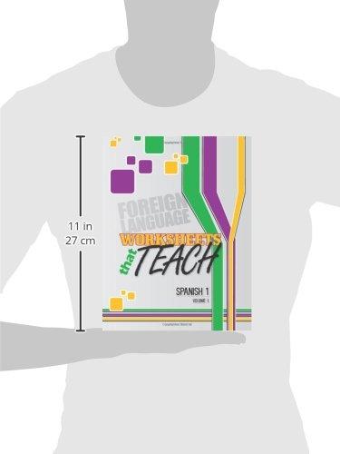 Amazon.com: Worksheets That Teach: Spanish 1, Volume I (Volume 1 ...