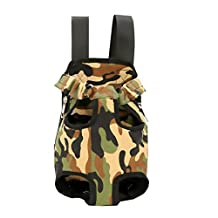 Front-facing Legs Out Dog Sling Dog Pet Backpack Carrier for Travel Cycling with Adjustable Shoulder Strap (l, Camo)