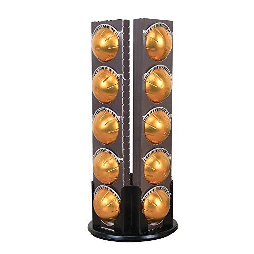 Flagship Black Revolving Coffee Pod Holder for Nespresso Vertuoline Capsules 4 Boxes by Flagship