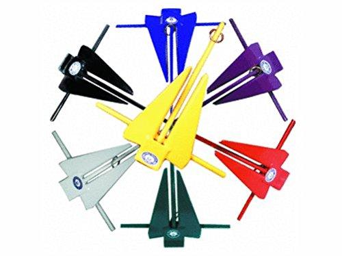 Greenfield 6lb PVC Coated Slip Ring Mechanical Fluke Anchor, Yellow ()