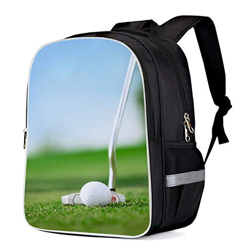 Fashion Elementary Student School Bags- Golf Outdoor Recreational Sports - Durable School Backpacks Outdoor Daypack Travel Packback for Kids Boys Girls