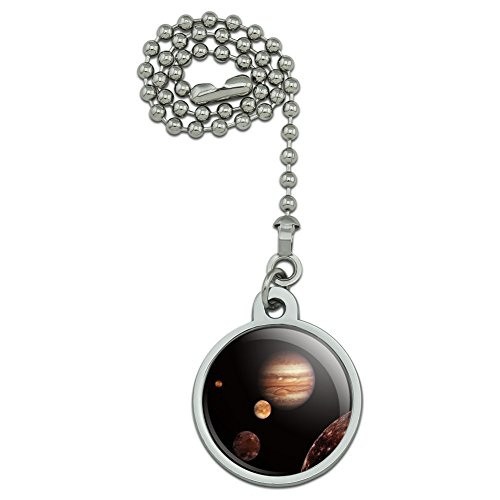 GRAPHICS & MORE Planet Jupiter with Io Europa Ganymede and Callisto Moons Space Ceiling Fan and Light Pull Chain
