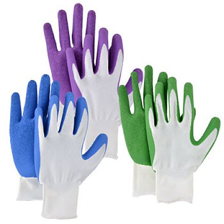 Garden Collection Latex Grip Gloves Purple, - Springs Outlet Center Palm