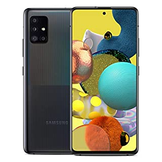 """Samsung Galaxy A51 5G Factory Unlocked Android Cell Phone   US Version   128GB Storage   Long-Lasting Battery for Gaming, 6.5"""" Infinity Display, Quad Camera   Black"""