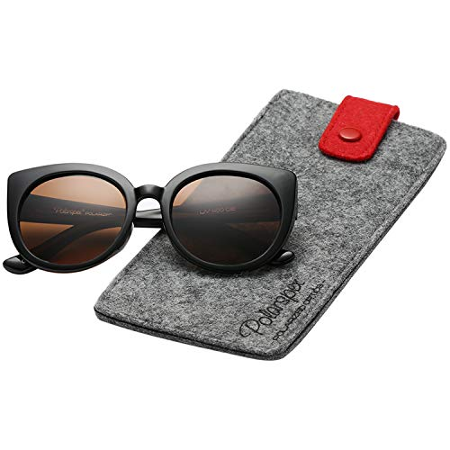 Polarspex Girls Elastic Cateye Kids Toddler Polarized Sunglasses - BPA Free (Black   ()