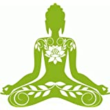 "Buddha India Buddhism Car Bumper Sticker Decal 5""x 5"""
